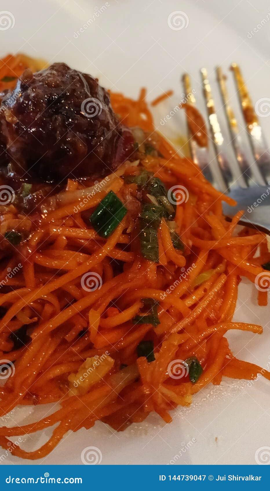 Chinese Manchurian Schezwan Spicy Noodles