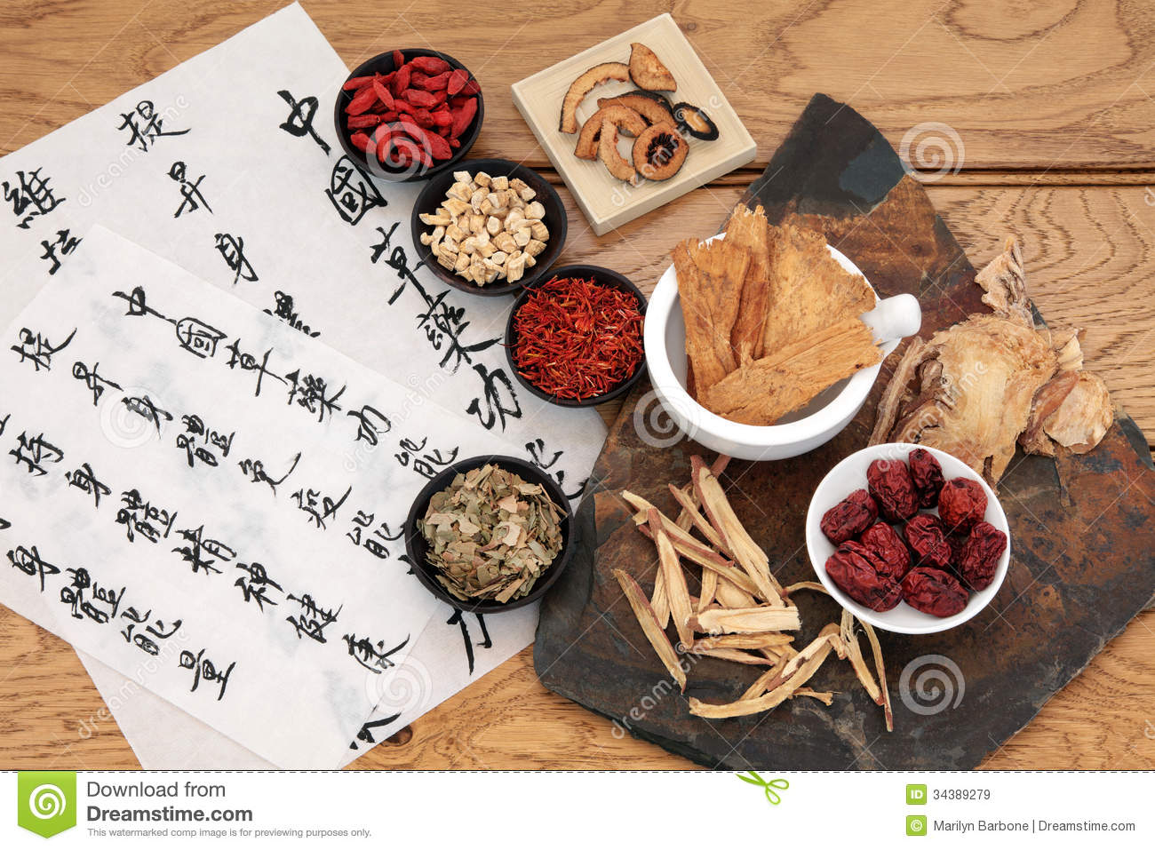 Traditional chinese herbal medicine selection with mandarin ...