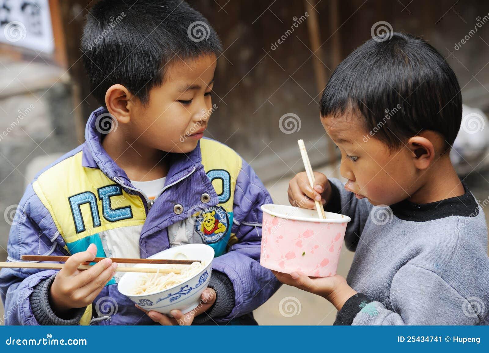 The chinese miao children