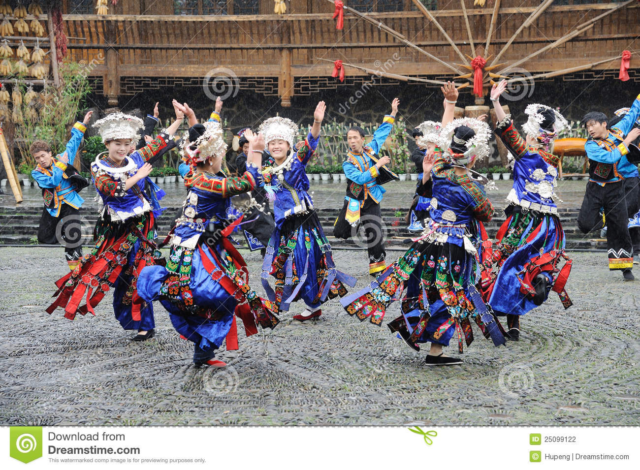 The chinese miao dancing
