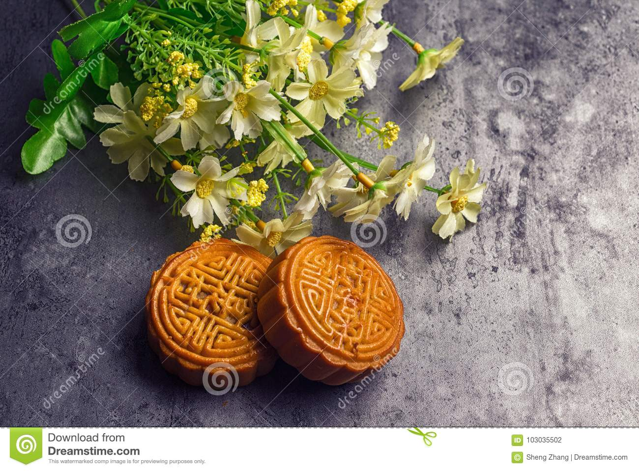 Chinese Mid Autumn Festival moon cake