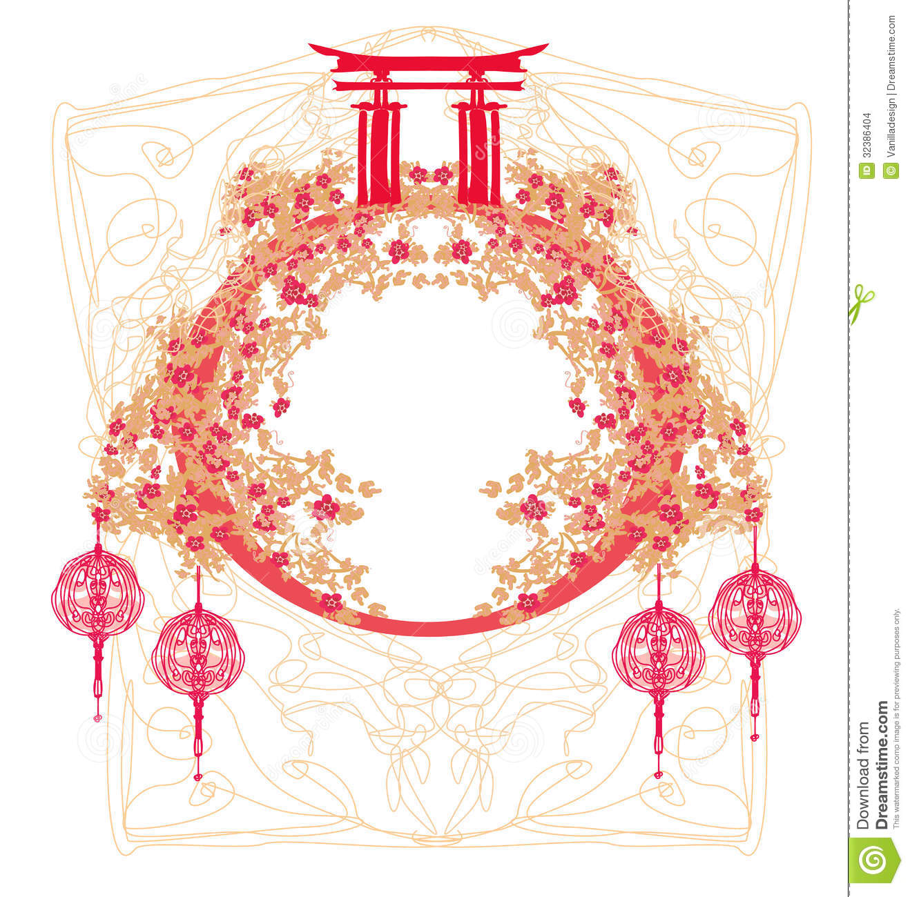 Chinese Mid Autumn Festival And New Year Design Element Stock Images ...