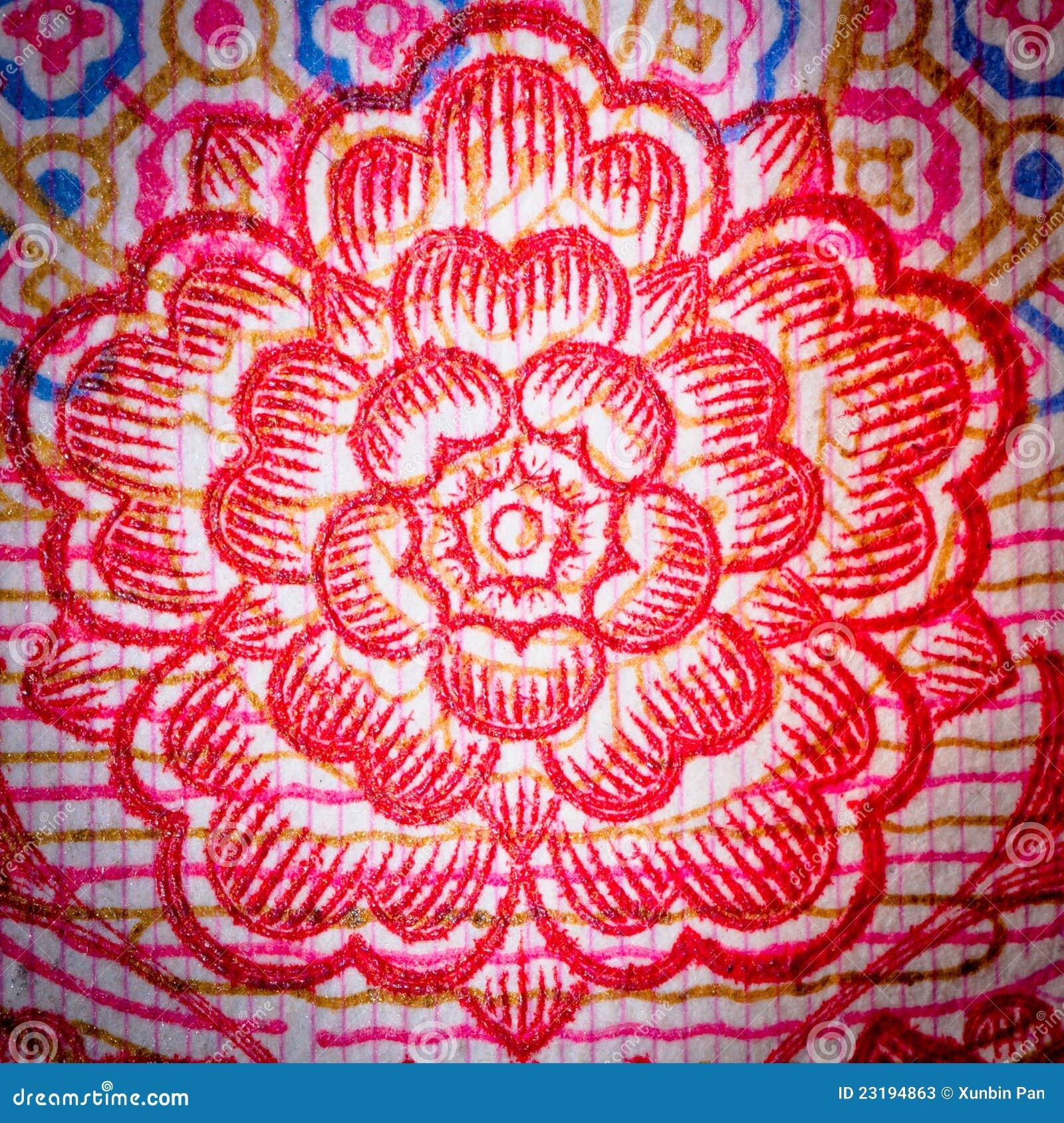 Chinese Money Rmb Background Flower Stock Image Image Of