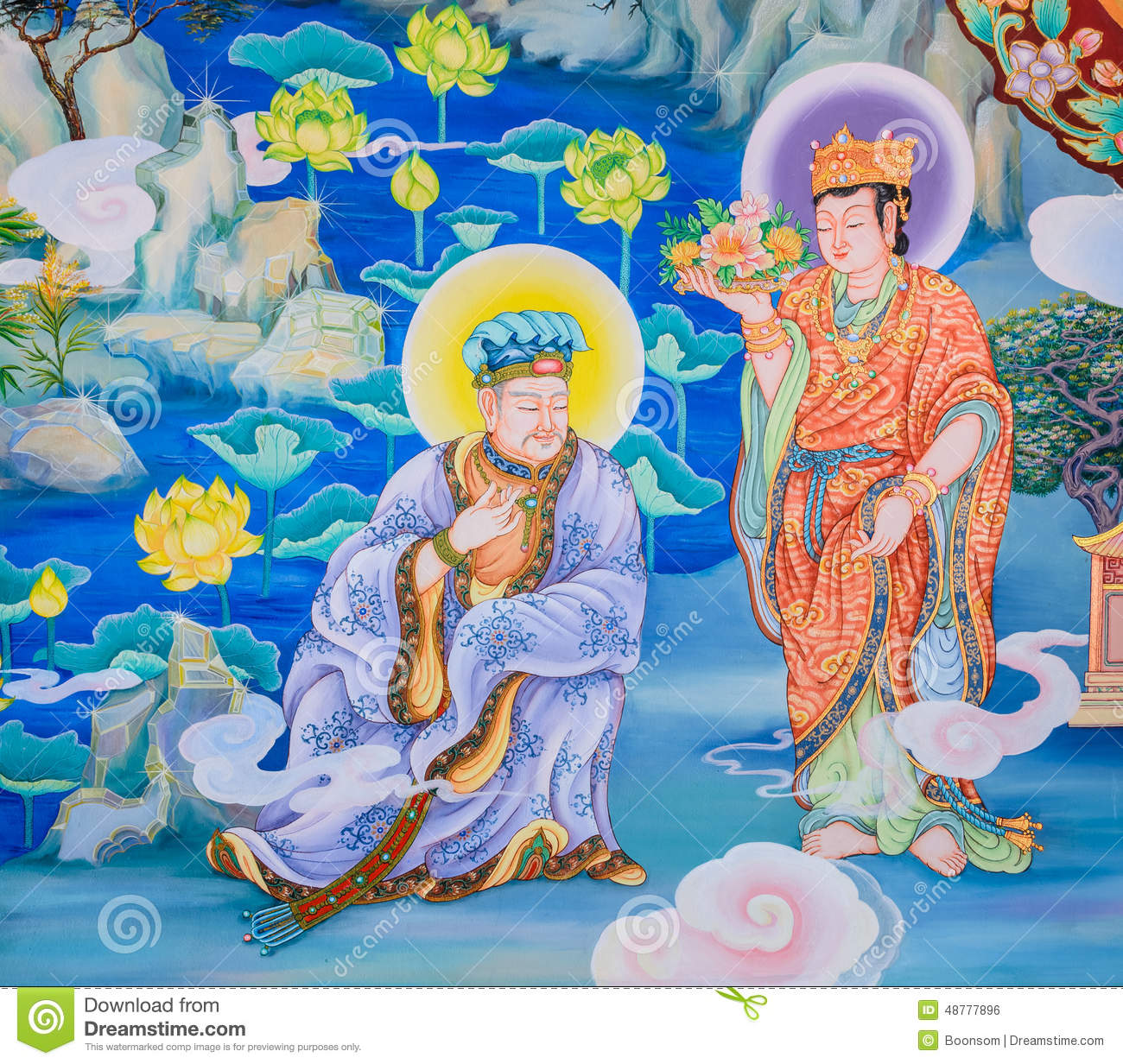 chinese mural painting mural in jingdezhen stock photo cartoondealer 10163