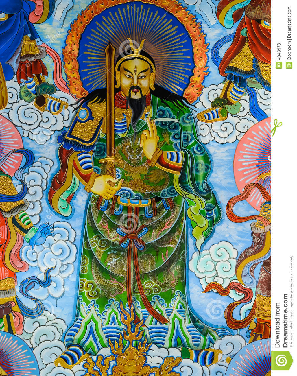 chinese mural painting stock photo image 40439731
