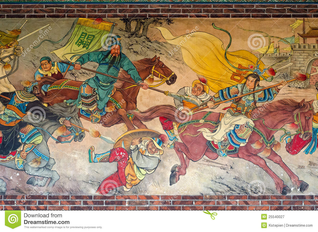 chinese mural painting mural paintings stock illustration illustration 10163
