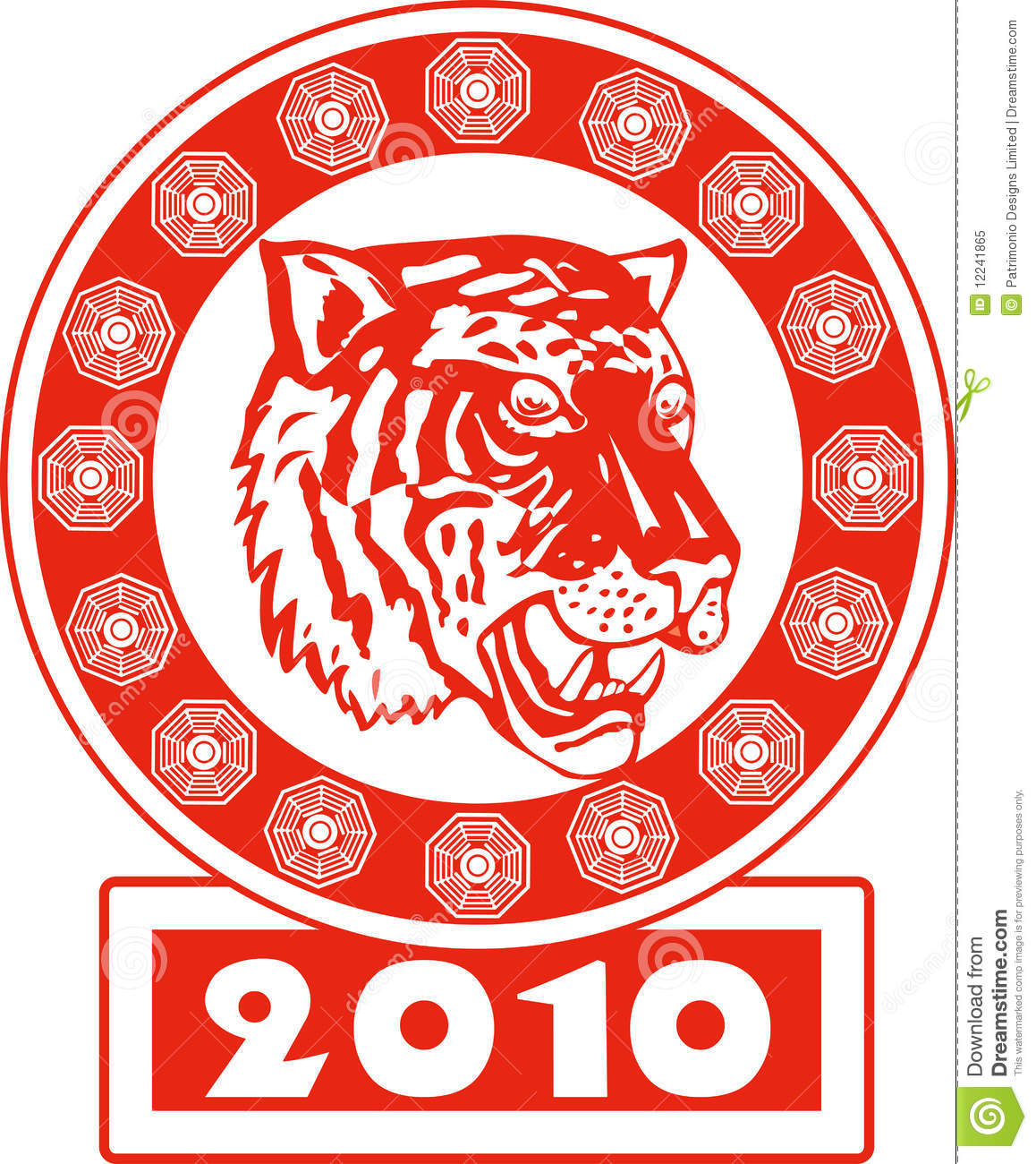 Illustration of the chinese new year 2010 year of the tiger