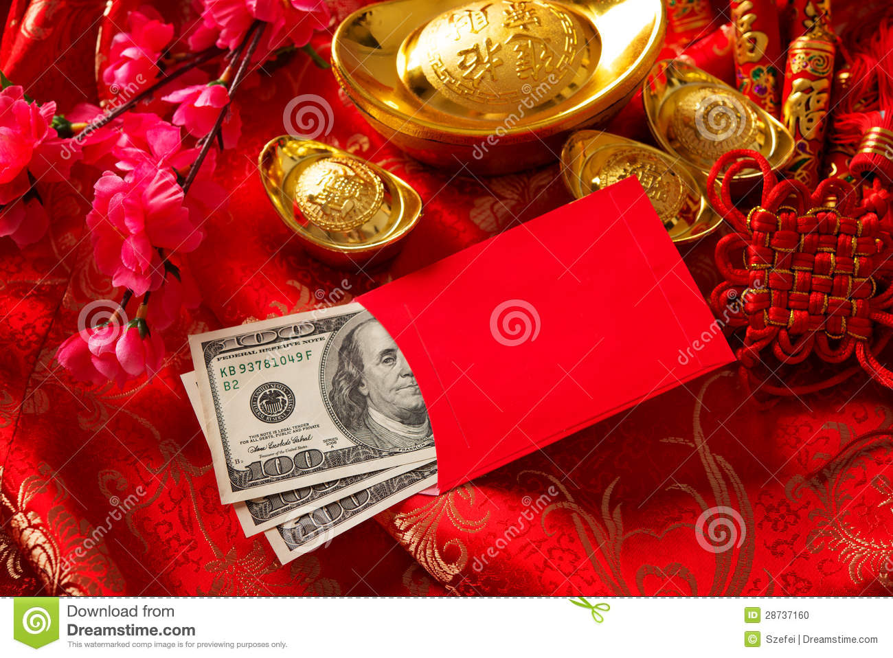 Chinese new year ang pow stock photo image 28737160 for Ang pow packet decoration