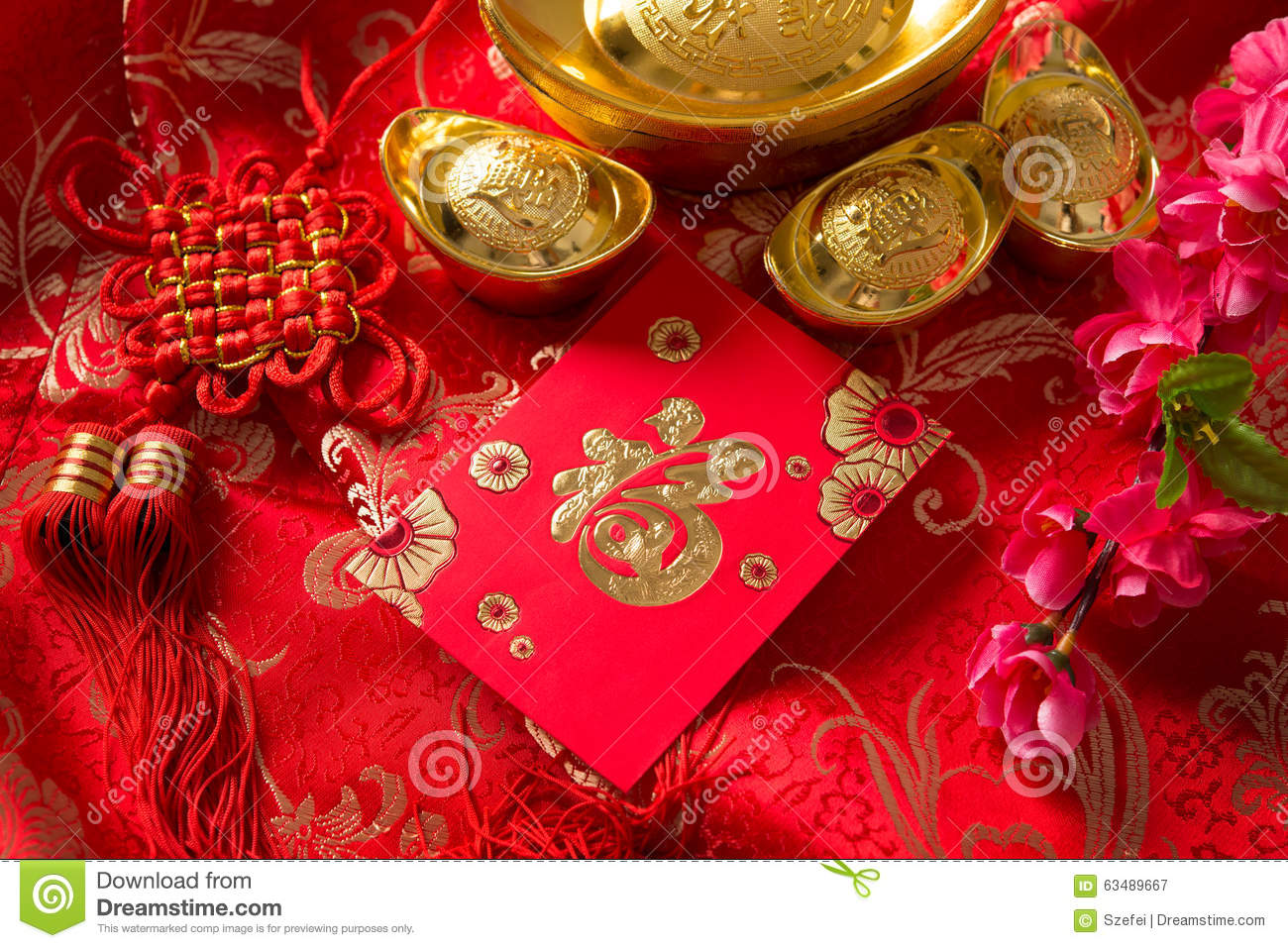 Chinese new year ang pow stock photo image 63489667 for Ang pow packet decoration