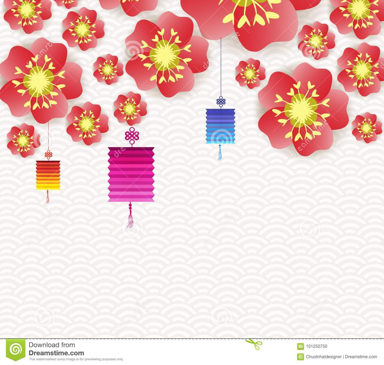 chinese new year background blooming sakura branches