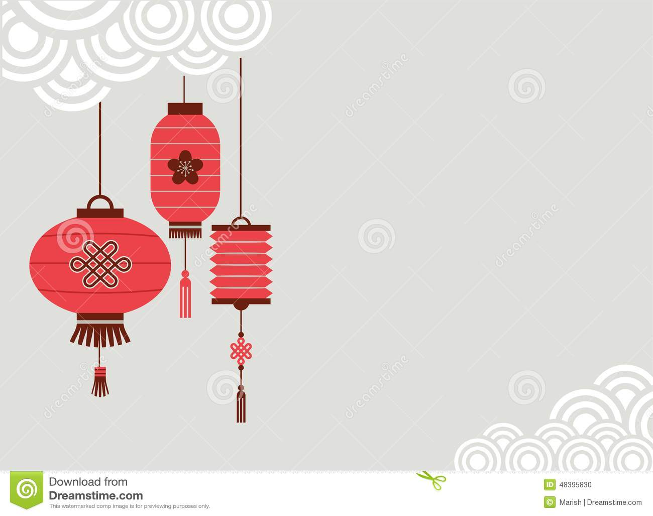 chinese new year background with lanterns illustration 48395830 megapixl