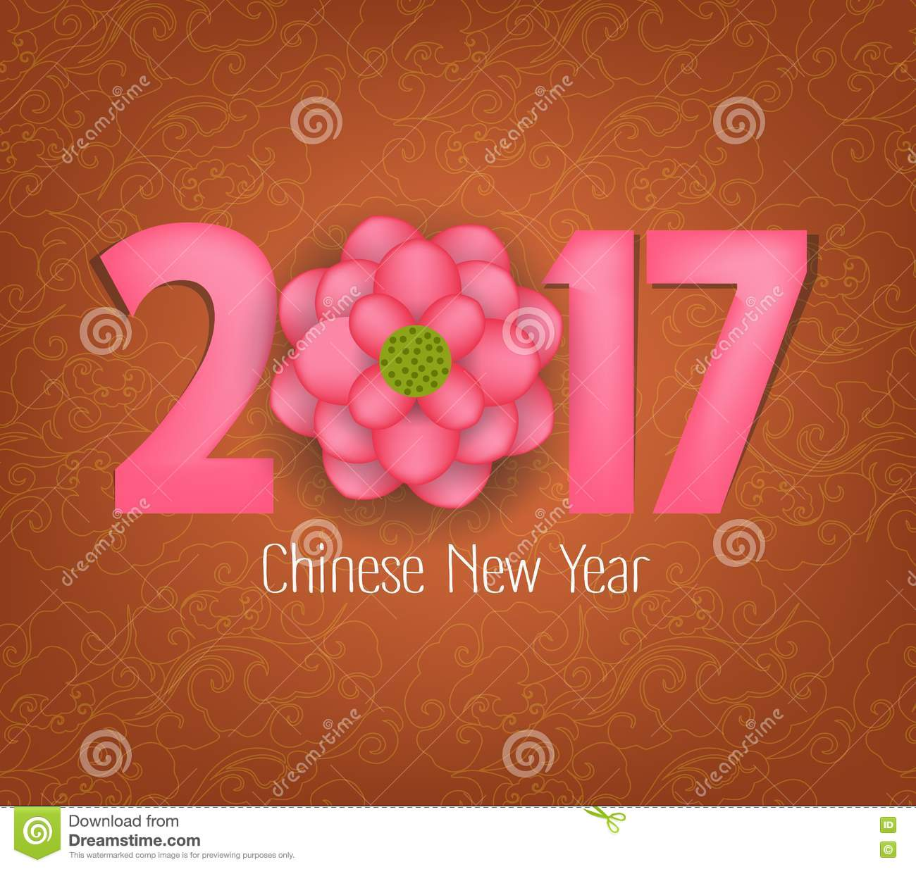 Chinese new year 2017 blooming flower design stock vector - Flowers for chinese new year ...