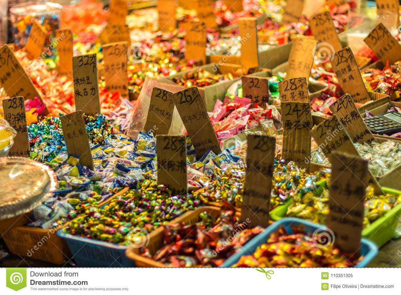 Chinese New Year Candies On Sale Stock Image - Image of year ...