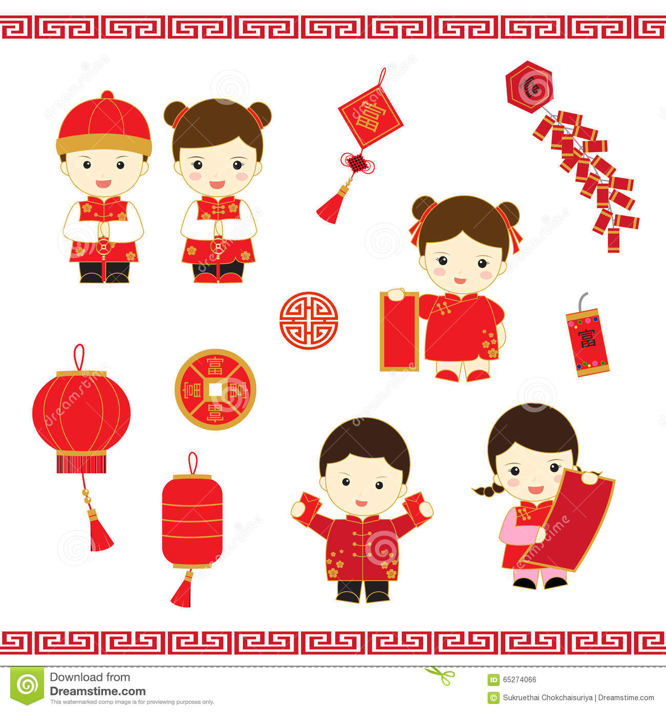 Chinese Calendar Illustration : Chinese new year cartoon stock illustration