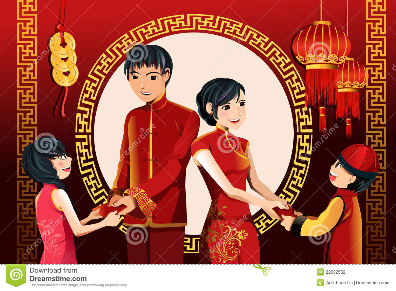 Chinese New Year Celebration Stock Vector Illustration