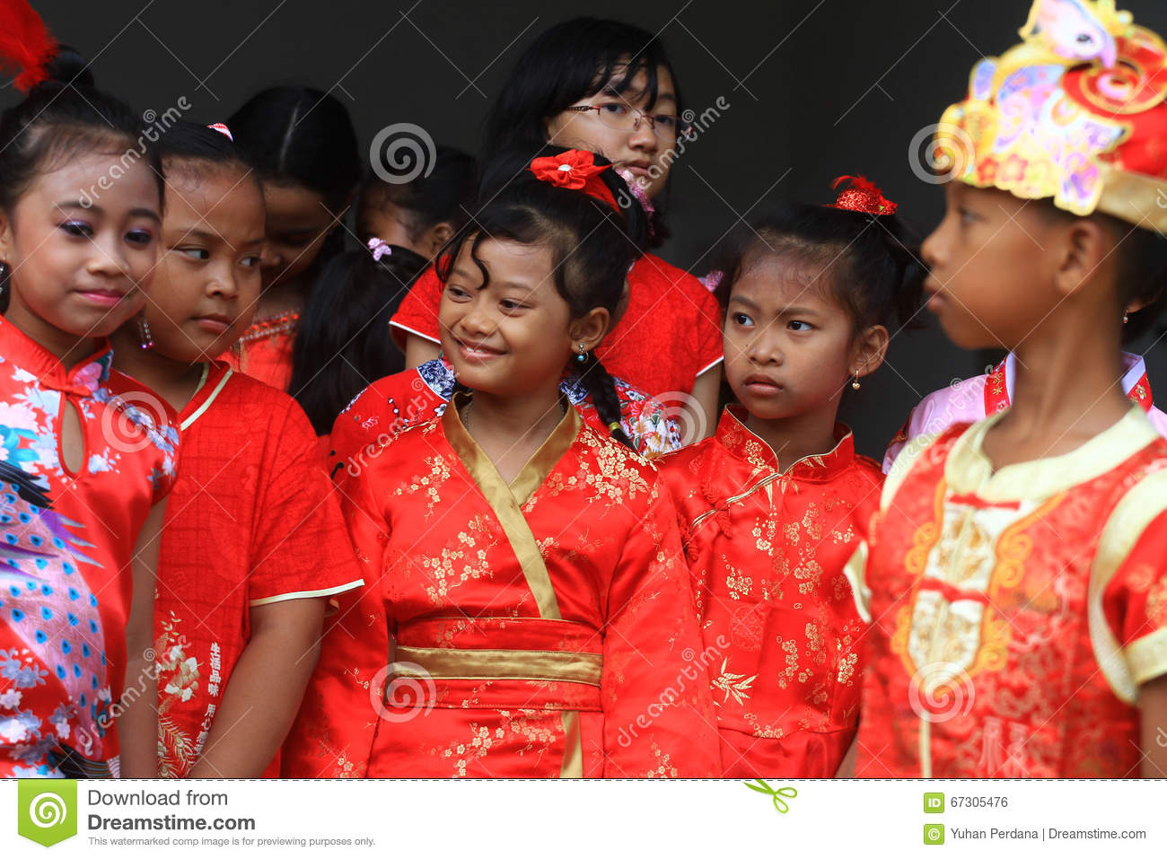 Some children dress china dress for the celebration of the Lunar New Year  diSolo 982d5427a