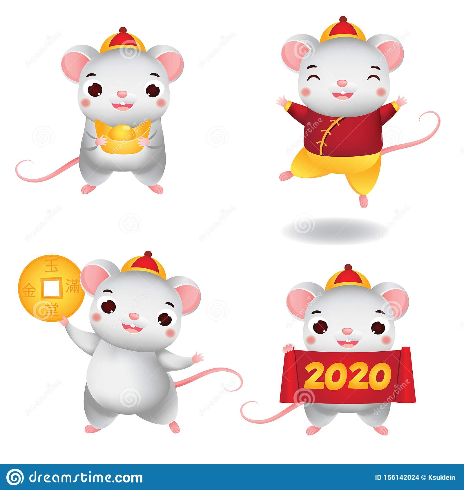 Chinese New Year Characters 2020 Mouse Collection