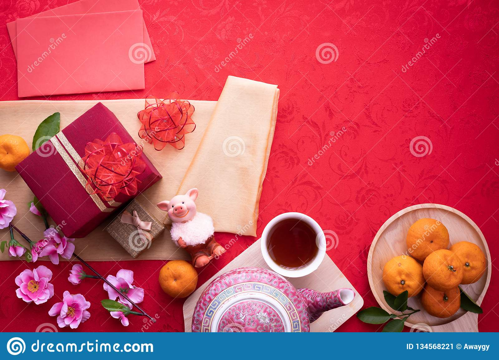 Chinese new year composition background, Year of the zodiac. copy space