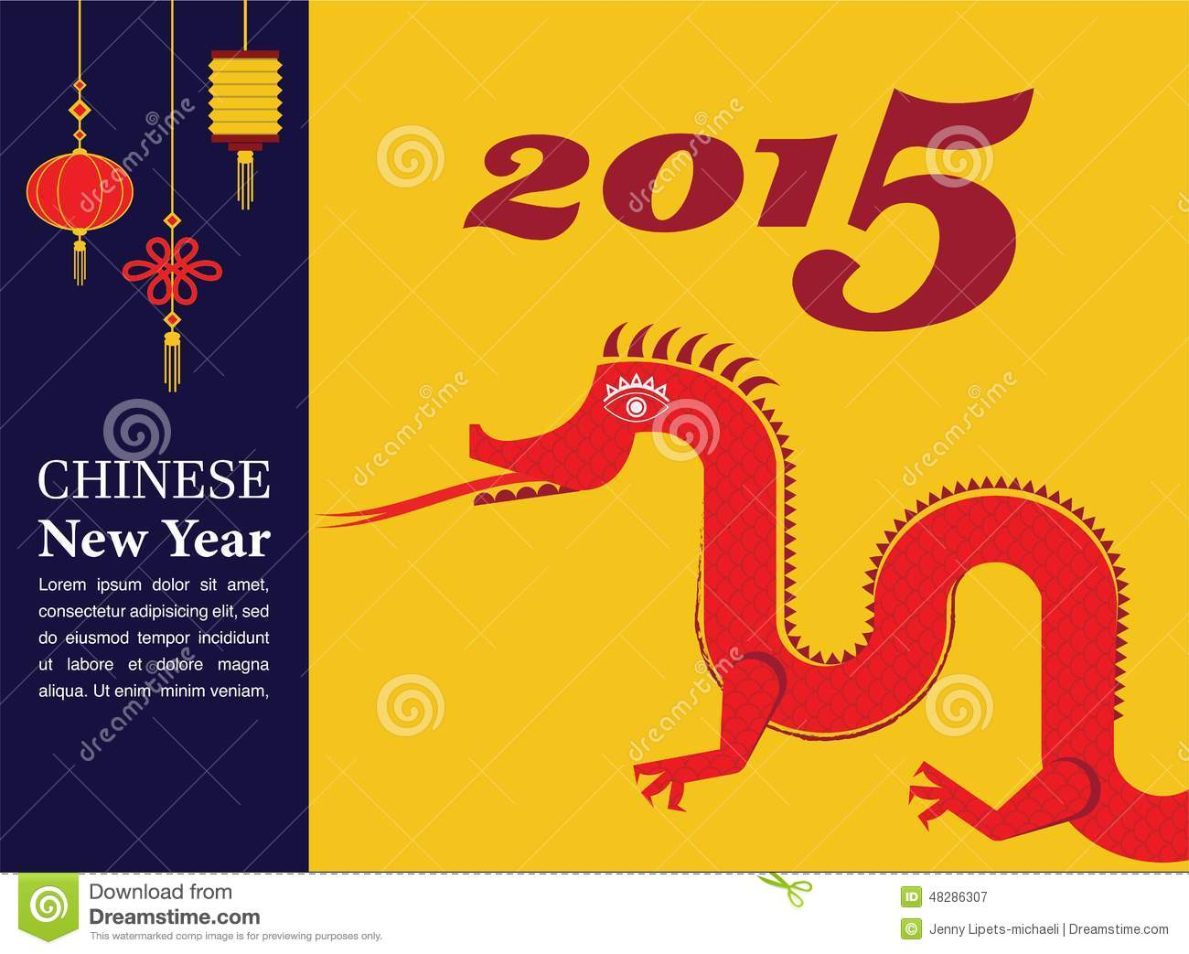 chinese new year dancing dragon