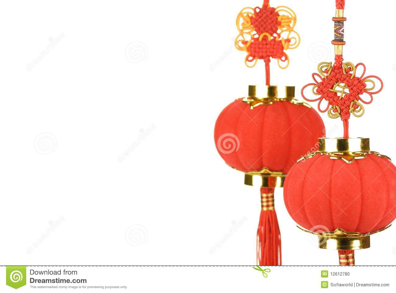 Chinese new year decoration stock photo image 12612780 for Decoration new year