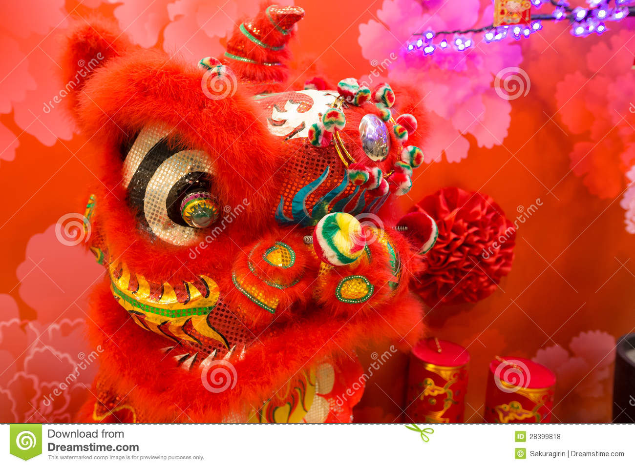 Chinese new year decoration royalty free stock photos for Decoration new year