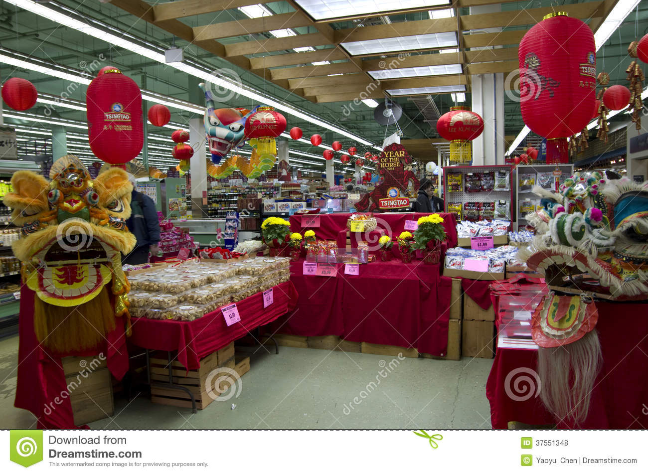 Chinese New Year Decoration Grocery Store Editorial Stock Photo ...