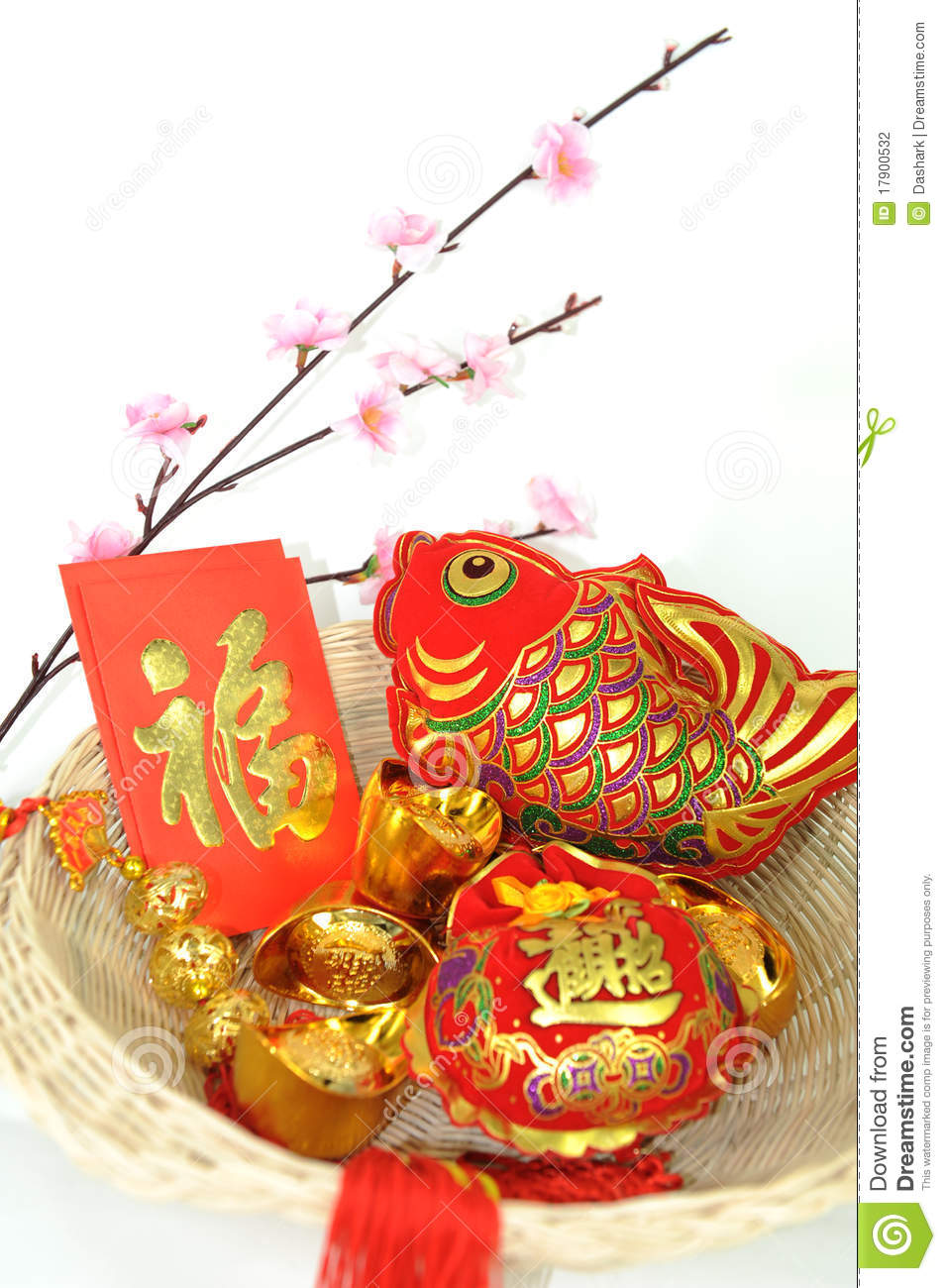 Chinese new year decoration items stock photo image of for Decoration new year