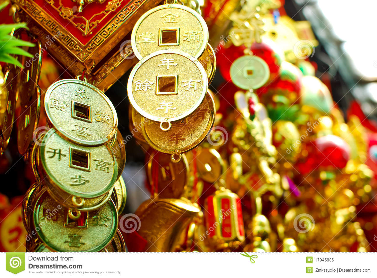 Chinese New Year Decoration Items Royalty Free Stock Photo