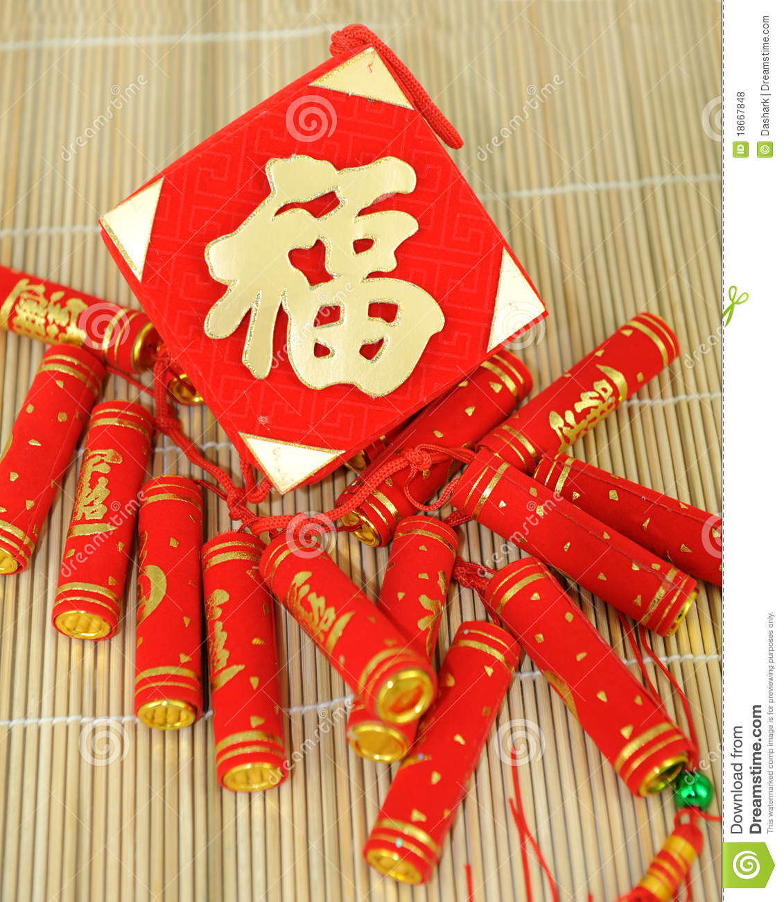 Chinese New Year Decoration Items Royalty Free Stock ...