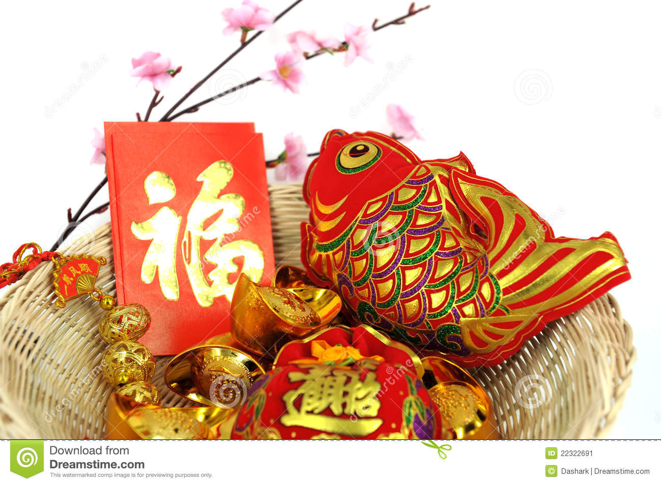 Chinese New Year Decoration Items Stock Image - Image ...