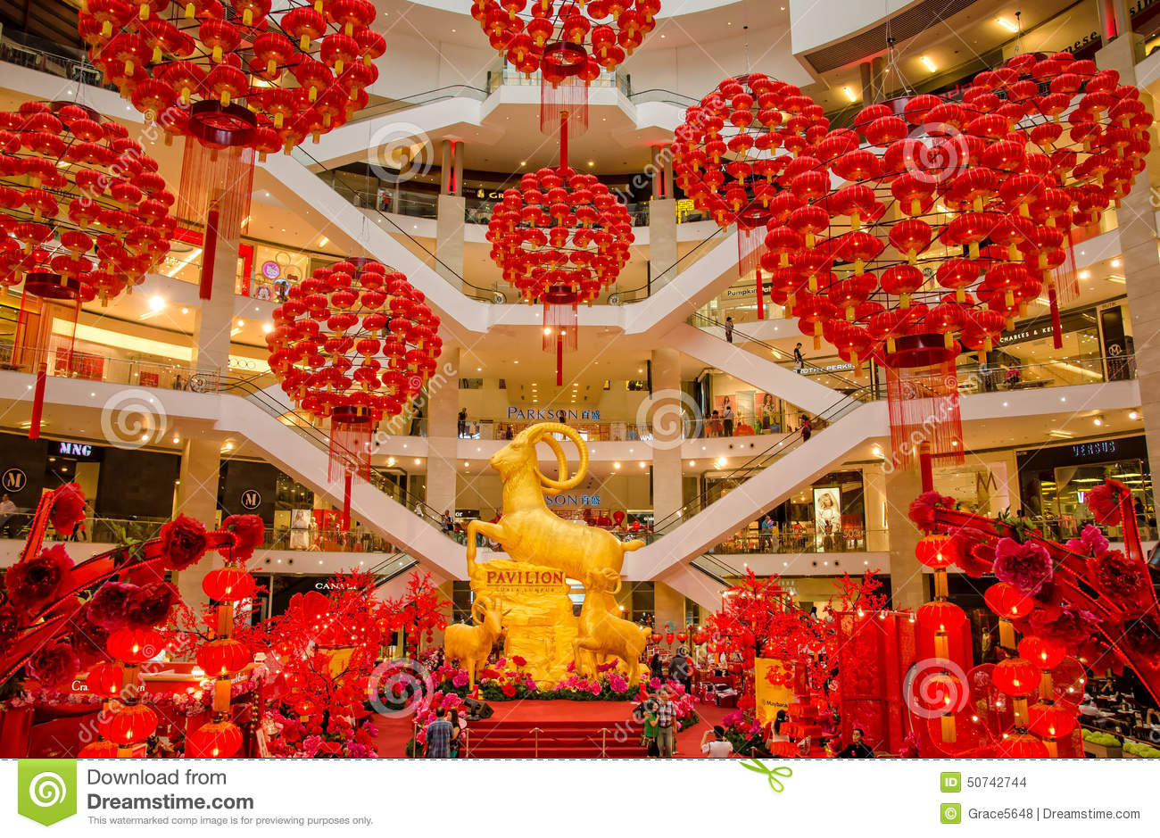 Chinese New Year Decoration In KL Pavilion Editorial Stock ...