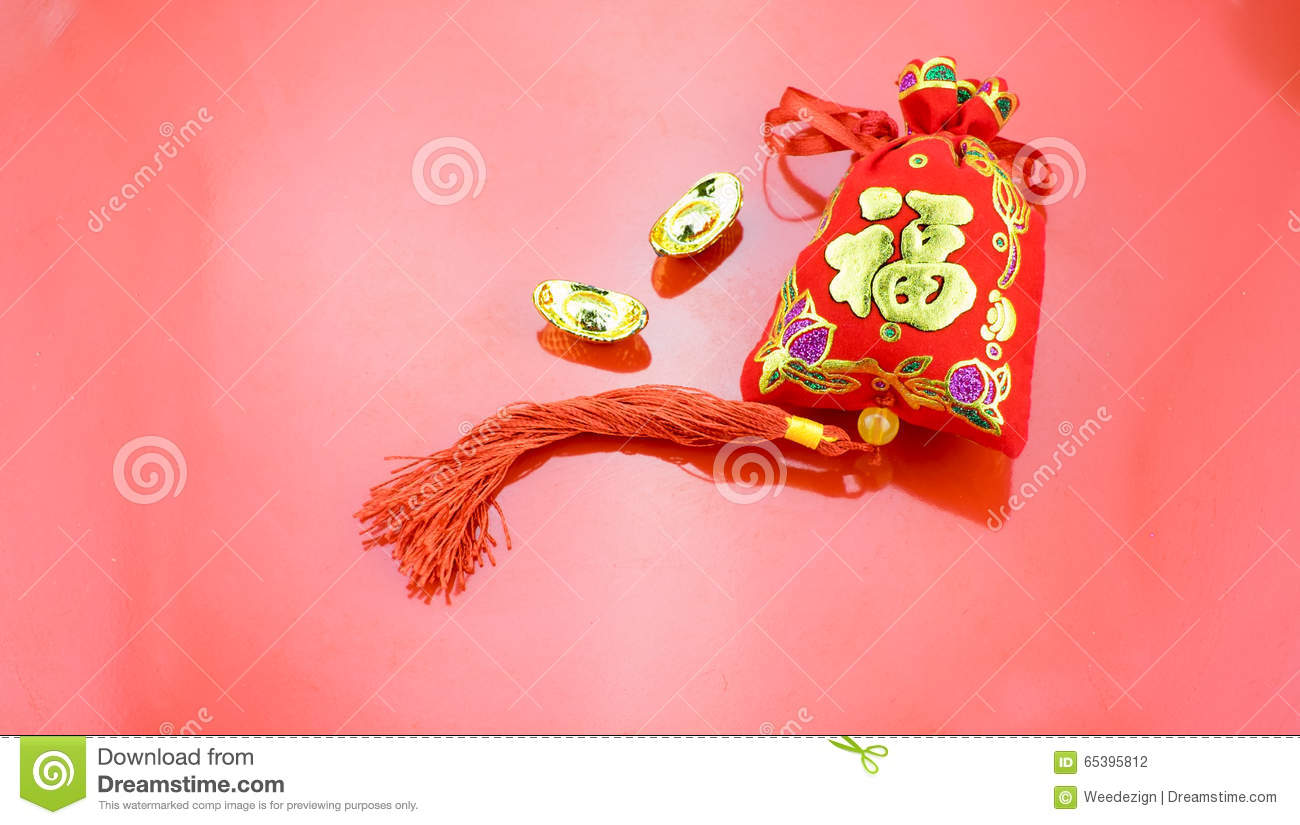 Chinese new year decoration red felt fabric packet or ang for Ang pow packet decoration