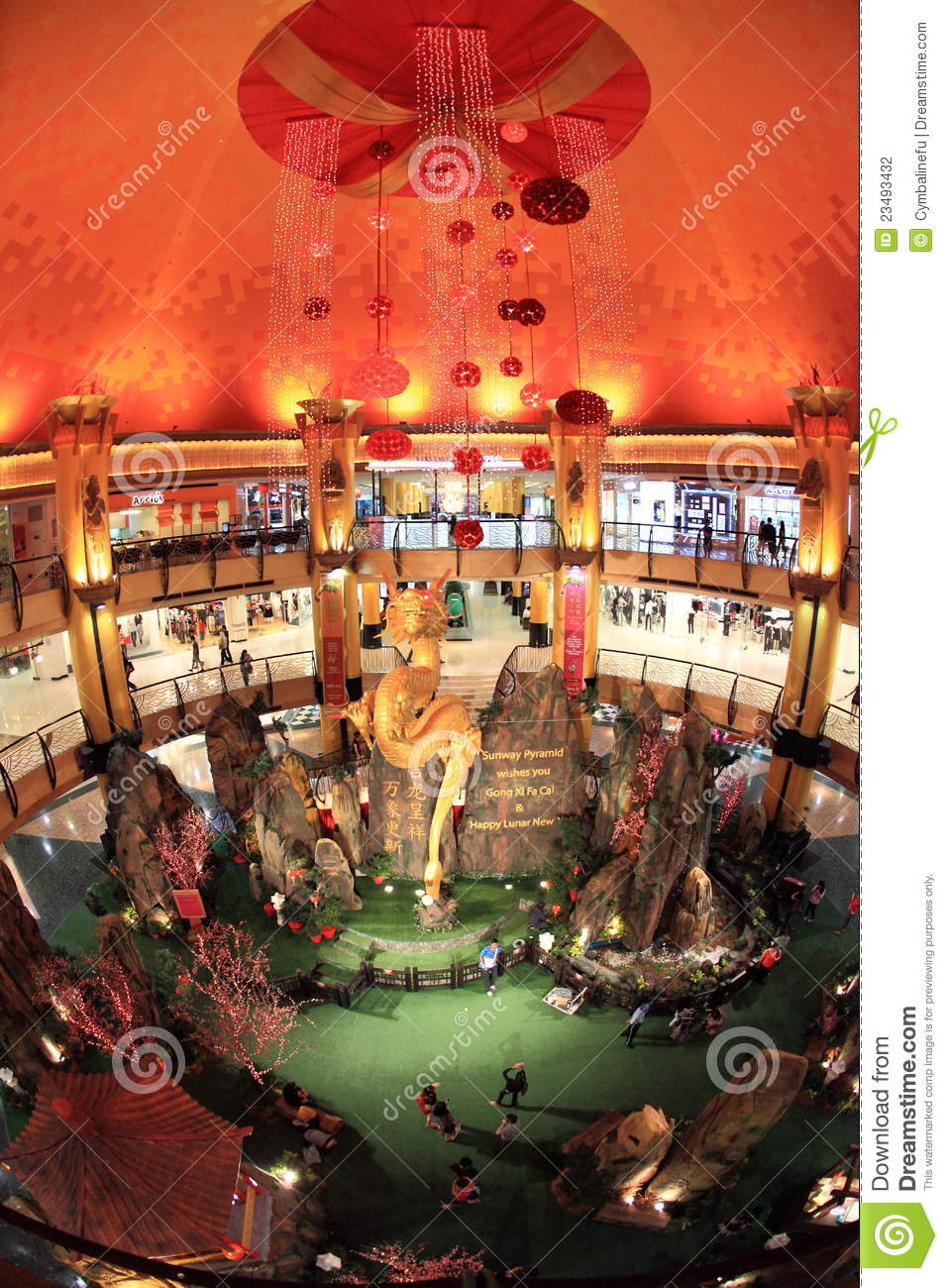 Chinese new year decoration in shopping mall editorial for Decoration shopping