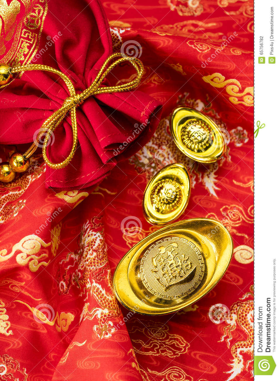 Chinese New Year Decorations And Auspicious Ornaments On ...