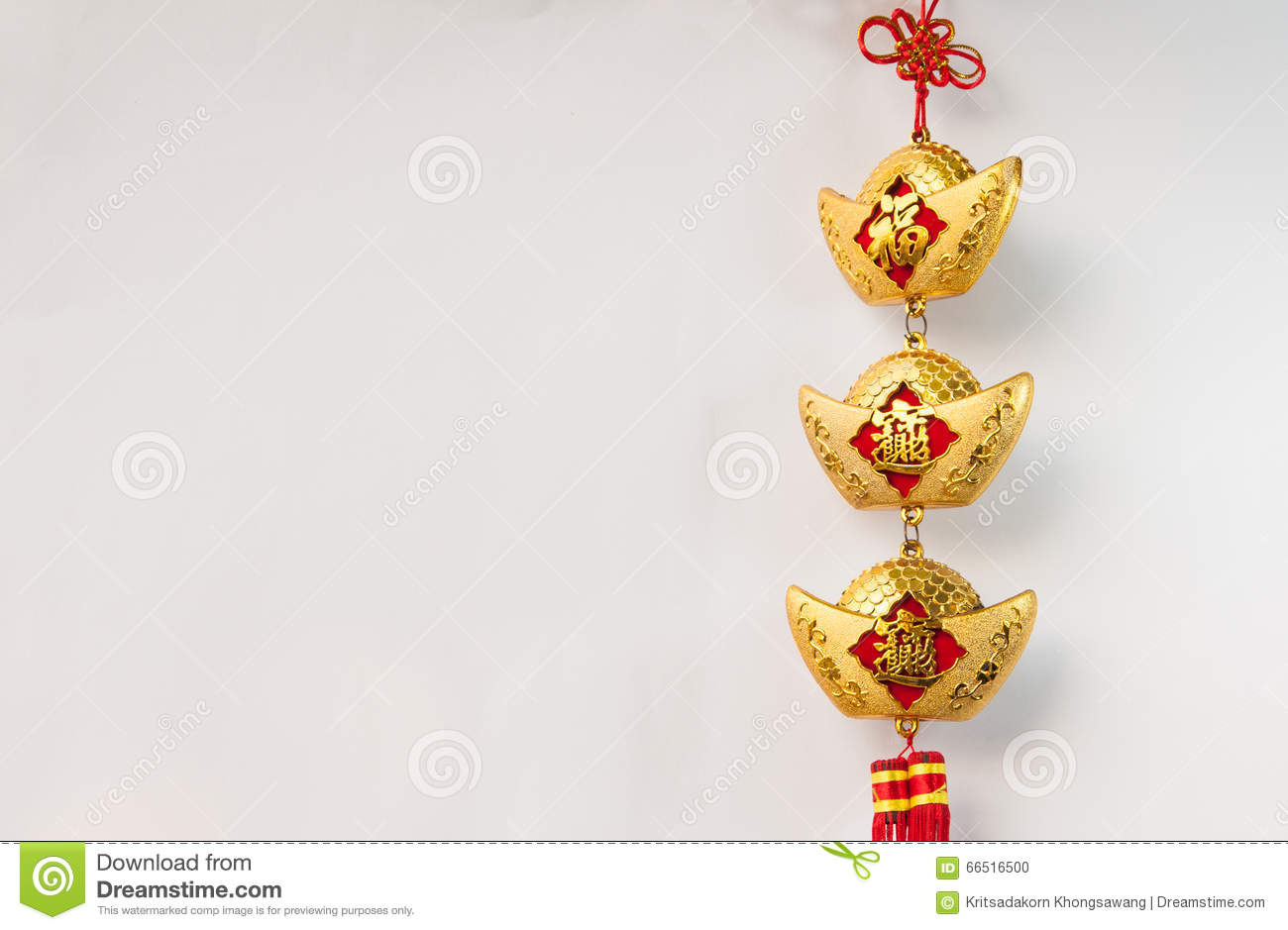 Chinese New Year Decorations And Hanging Stock Photo ...