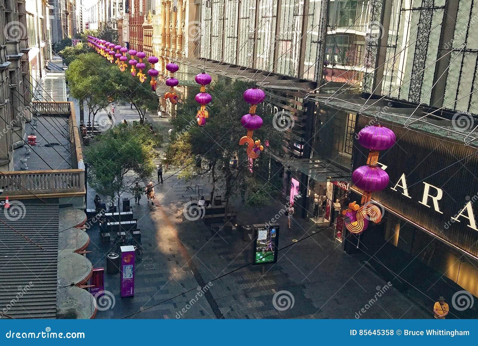 Chinese New Year Decorations, Sydney, Australia Editorial ...