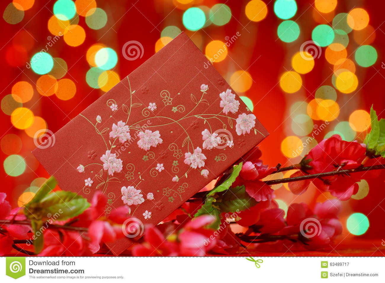 Chinese new year elements stock photo image 63489717 for Ang pow packet decoration