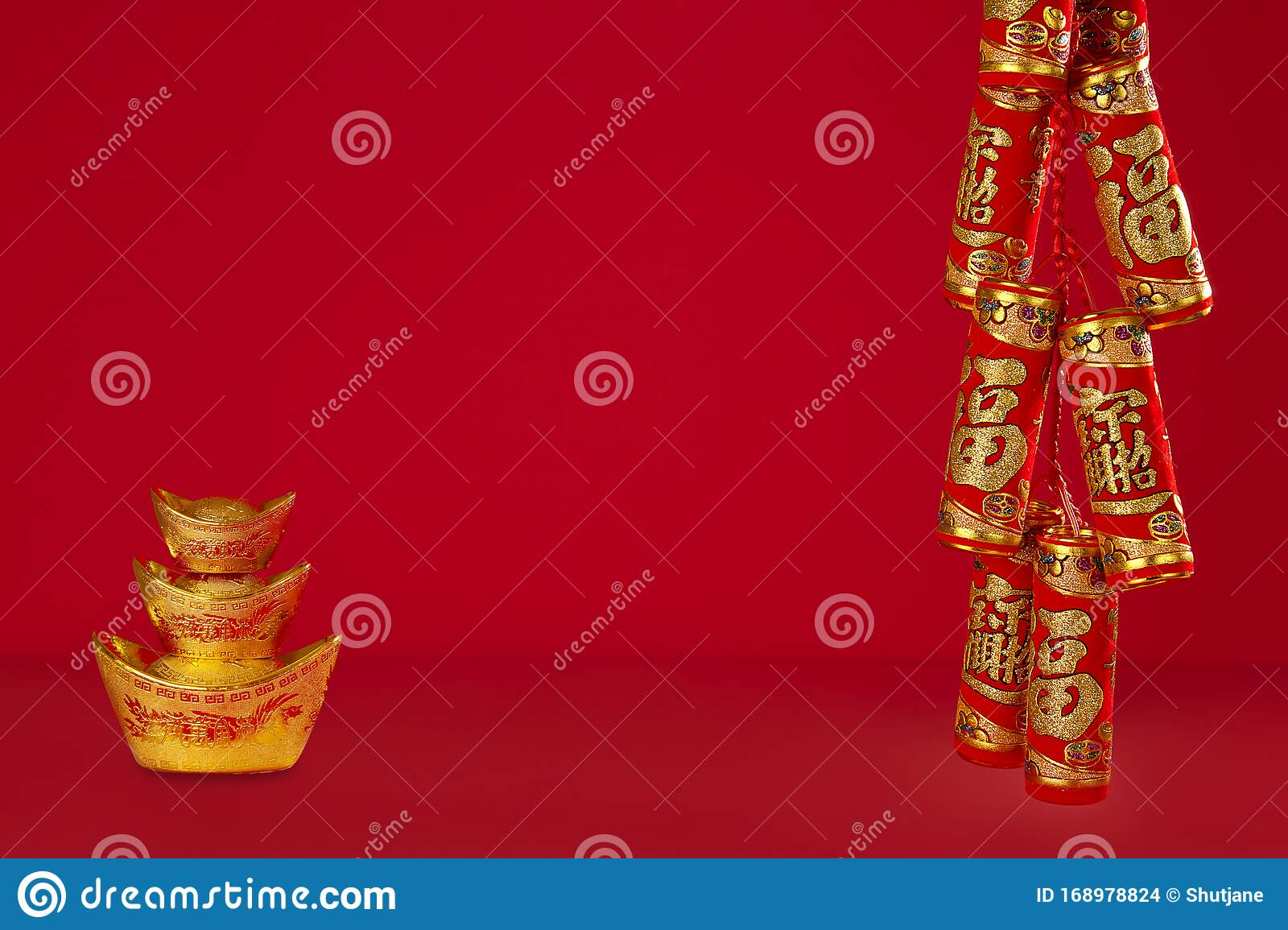 Chinese New Year Or Lunar New Year. Stock Photo - Image of ...