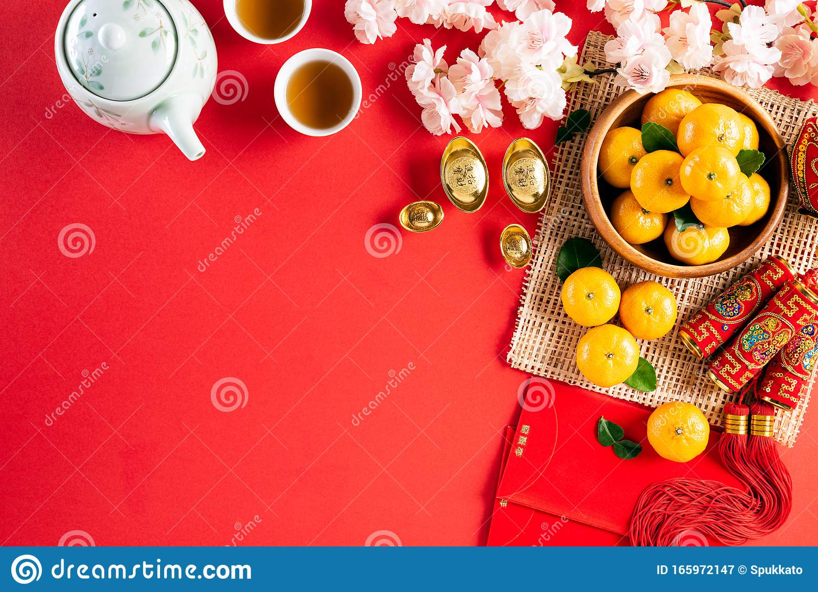 Chinese New Year Festival Decorations Pow Or Red Packet ...