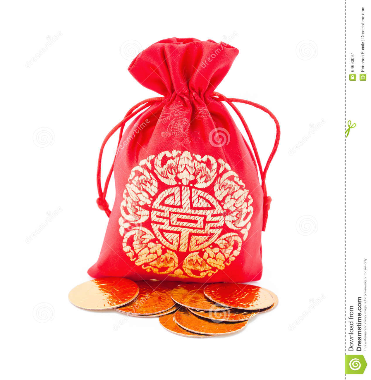 chinese new year gift bag and gold ingot ornament - Gifts For Chinese New Year