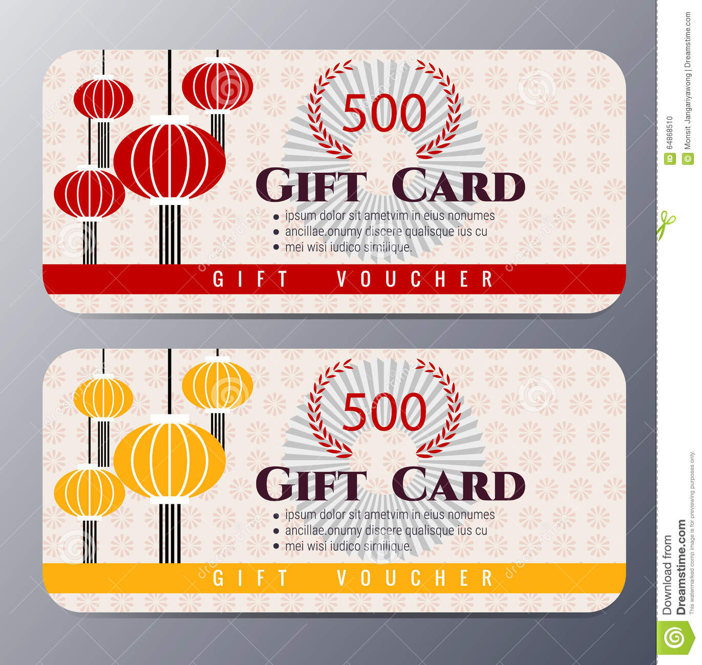 Chinese vector certificate template stock vector image 69971655 chinese new year gift voucher template vector illustration stock photo yelopaper Gallery