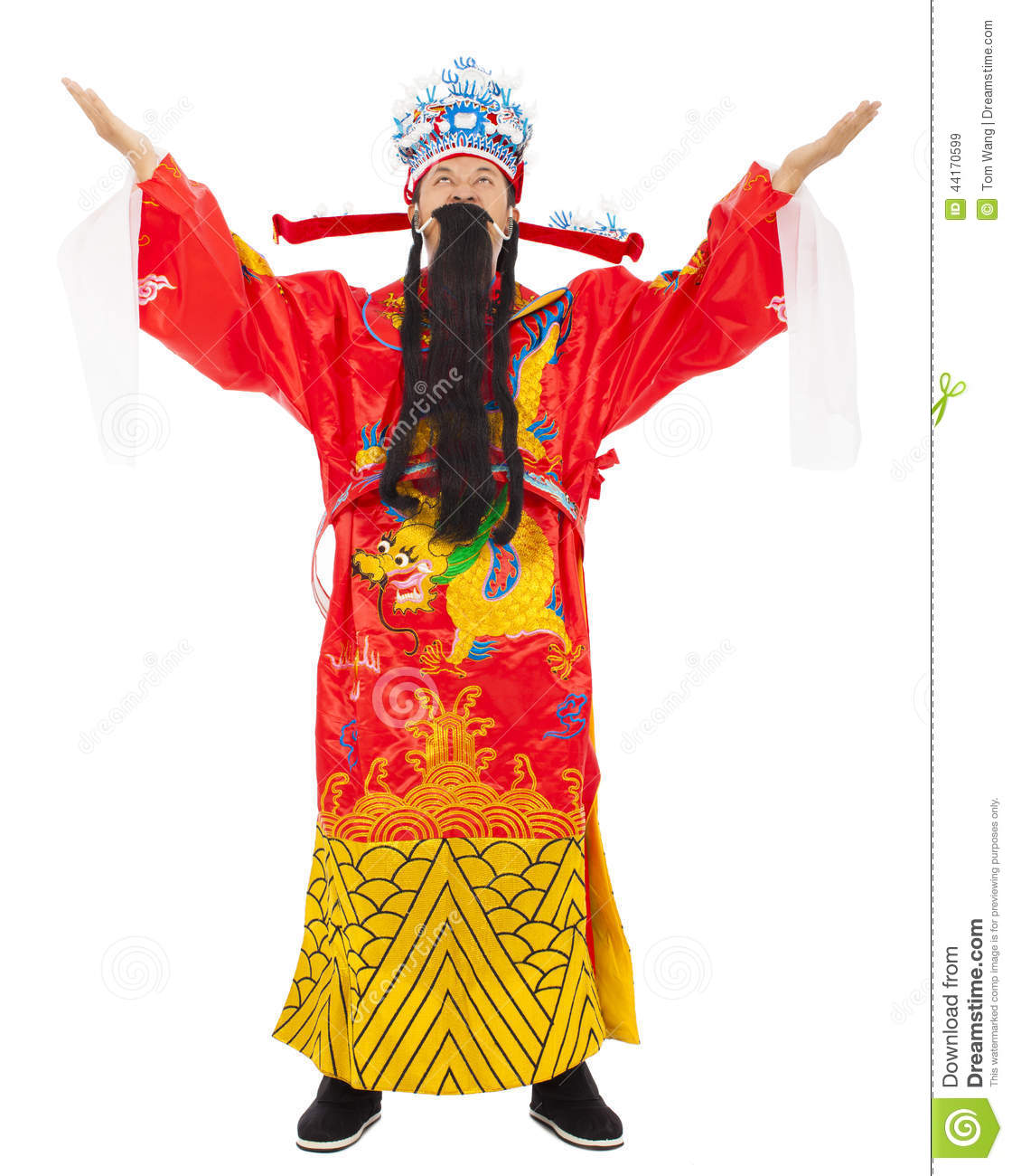 Chinese New Year! god of wealth share riches and prosperity.