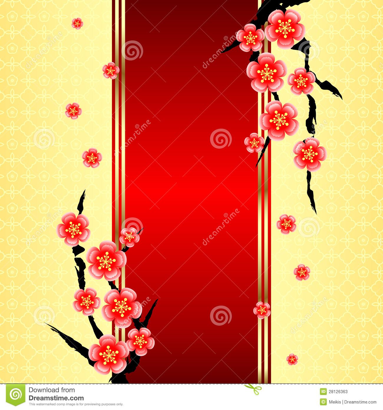 download chinese new year greeting card stock vector illustration of culture copy 28126363