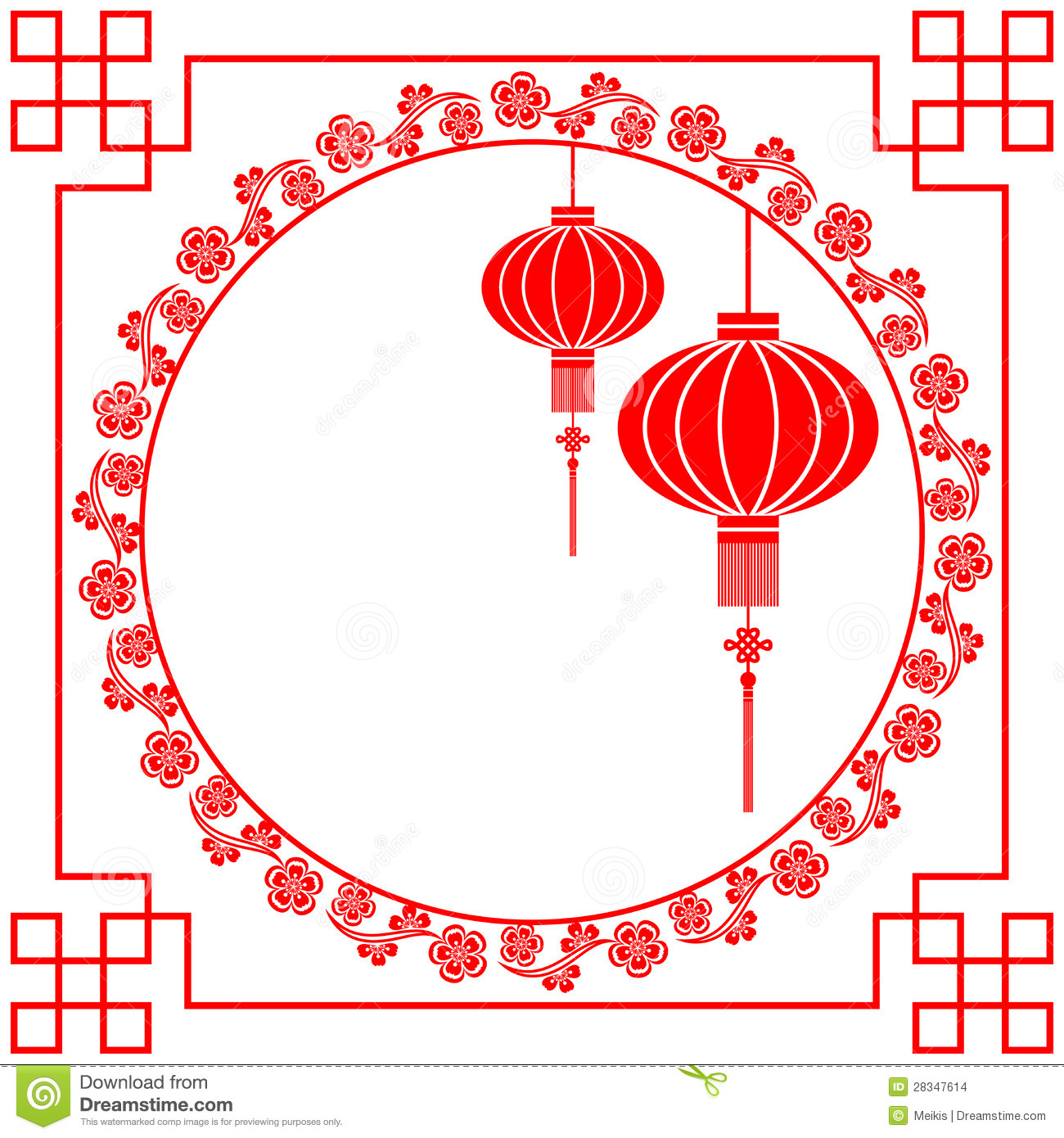 Chinese New Year Greeting Card Stock Vector Illustration Of Asian