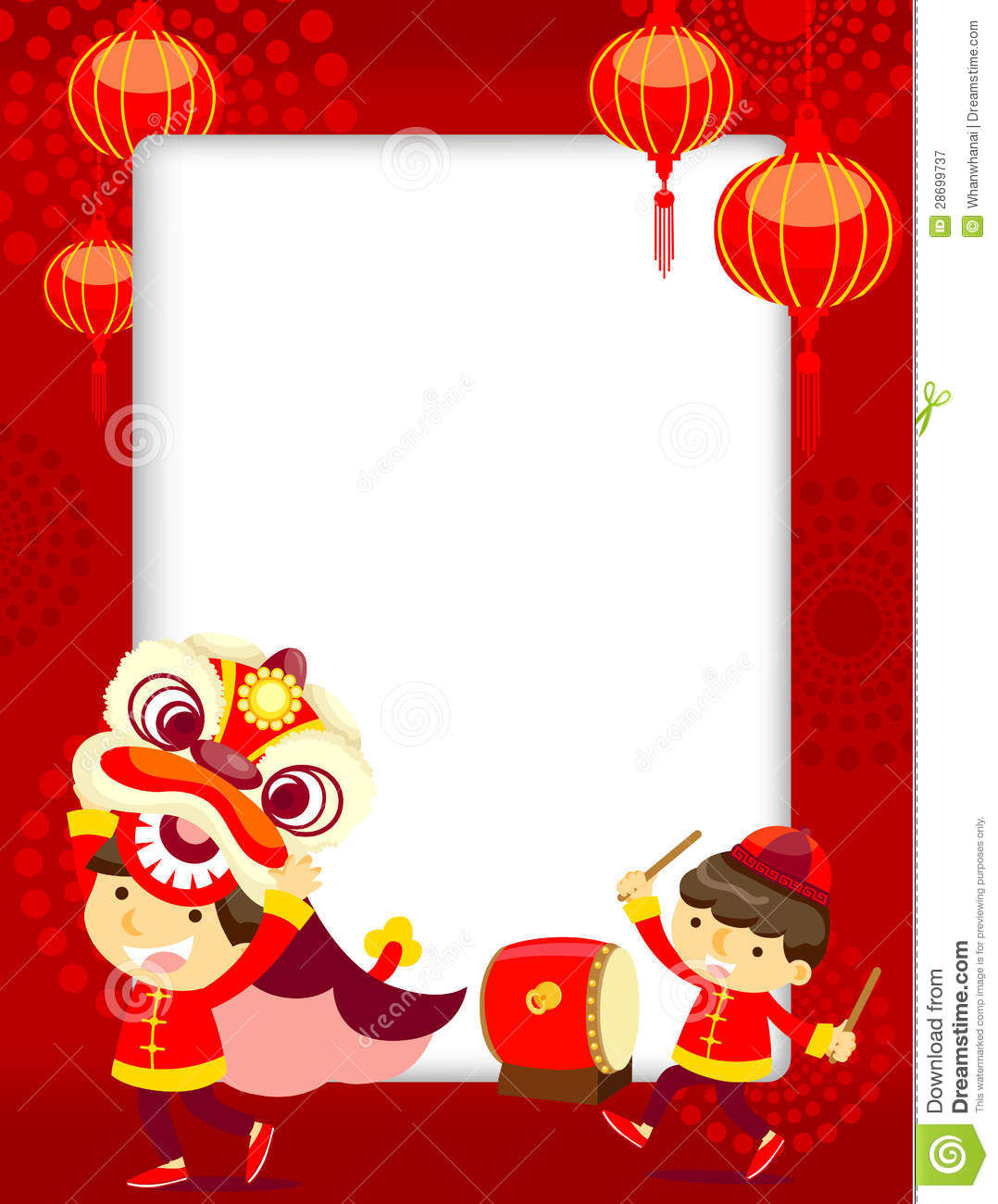 Chinese New Year Greeting Card Royalty Free Stock ...