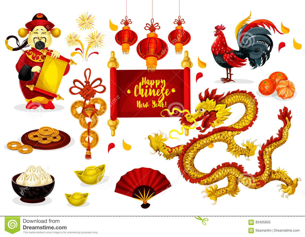Chinese new year greeting poster design stock vector illustration download chinese new year greeting poster design stock vector illustration of mandarin design m4hsunfo