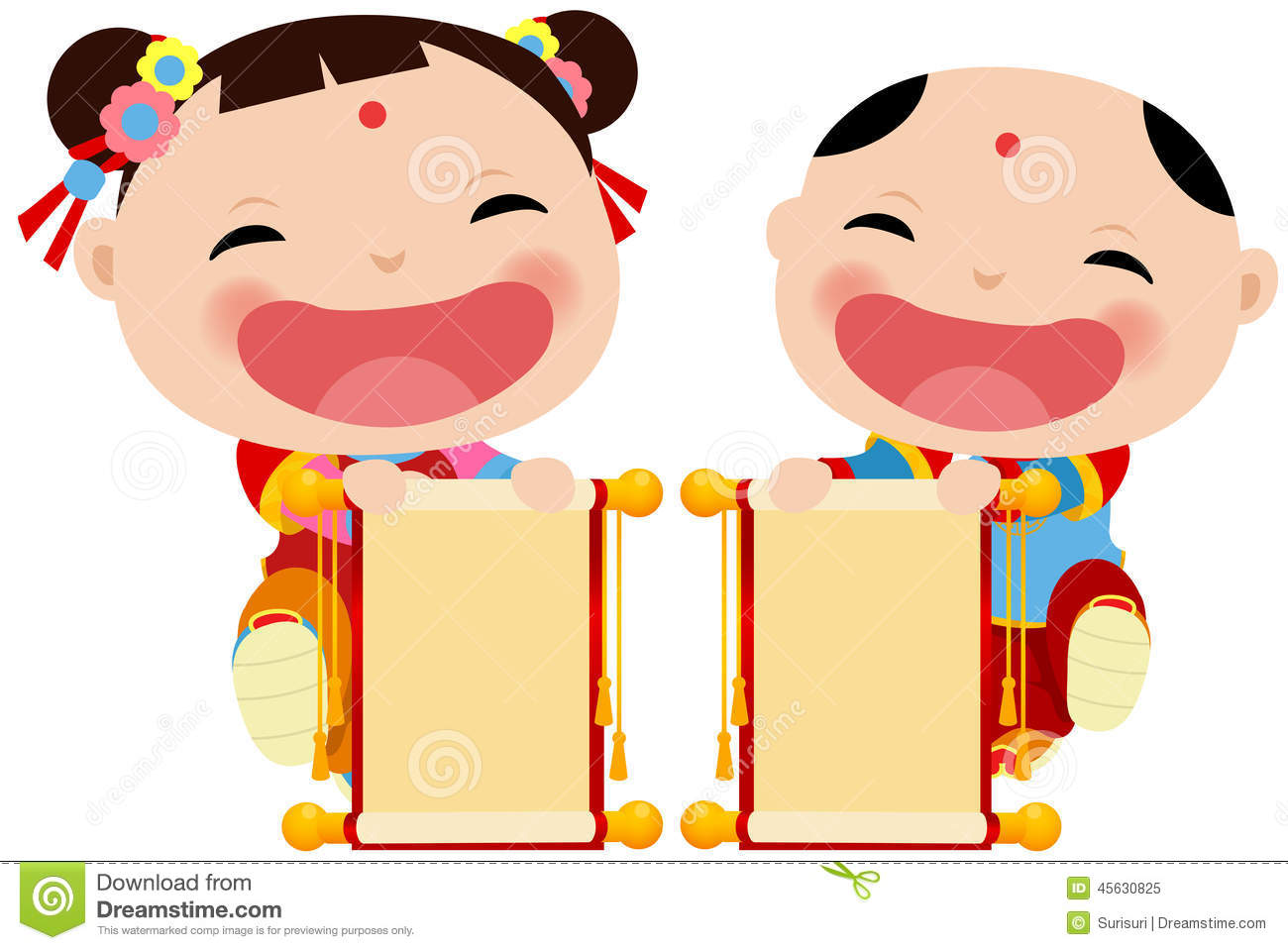 chinese new year greetings children and banner stock vector rh dreamstime com