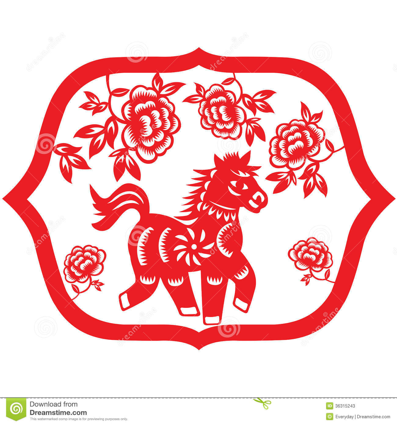 Chinese new year horse drawing chinese new year of the for Best time of year for mattress sales