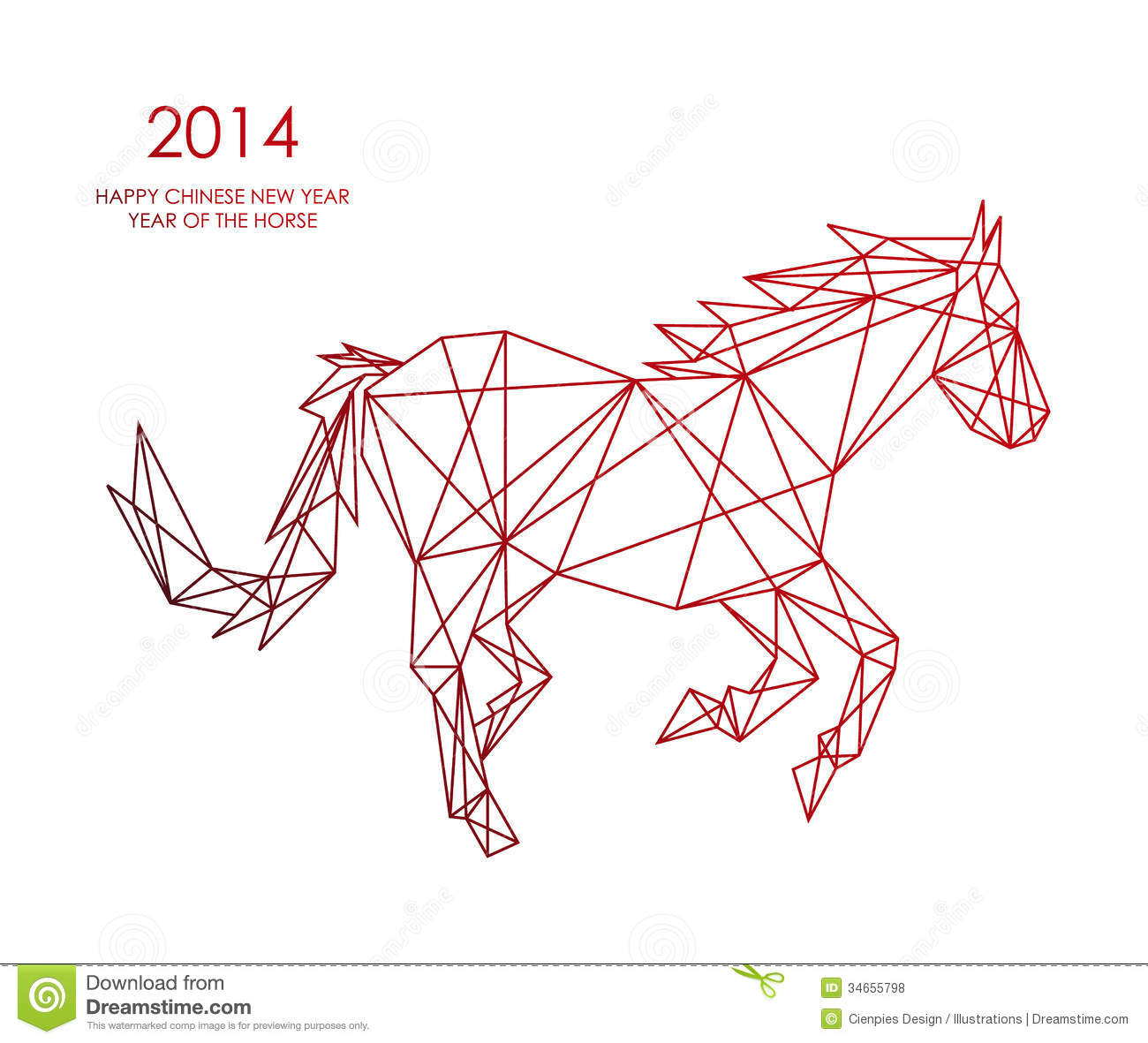 Abstract Colorful Triangle Shape: Chinese New Year Of The Horse Triangle Web Shape File
