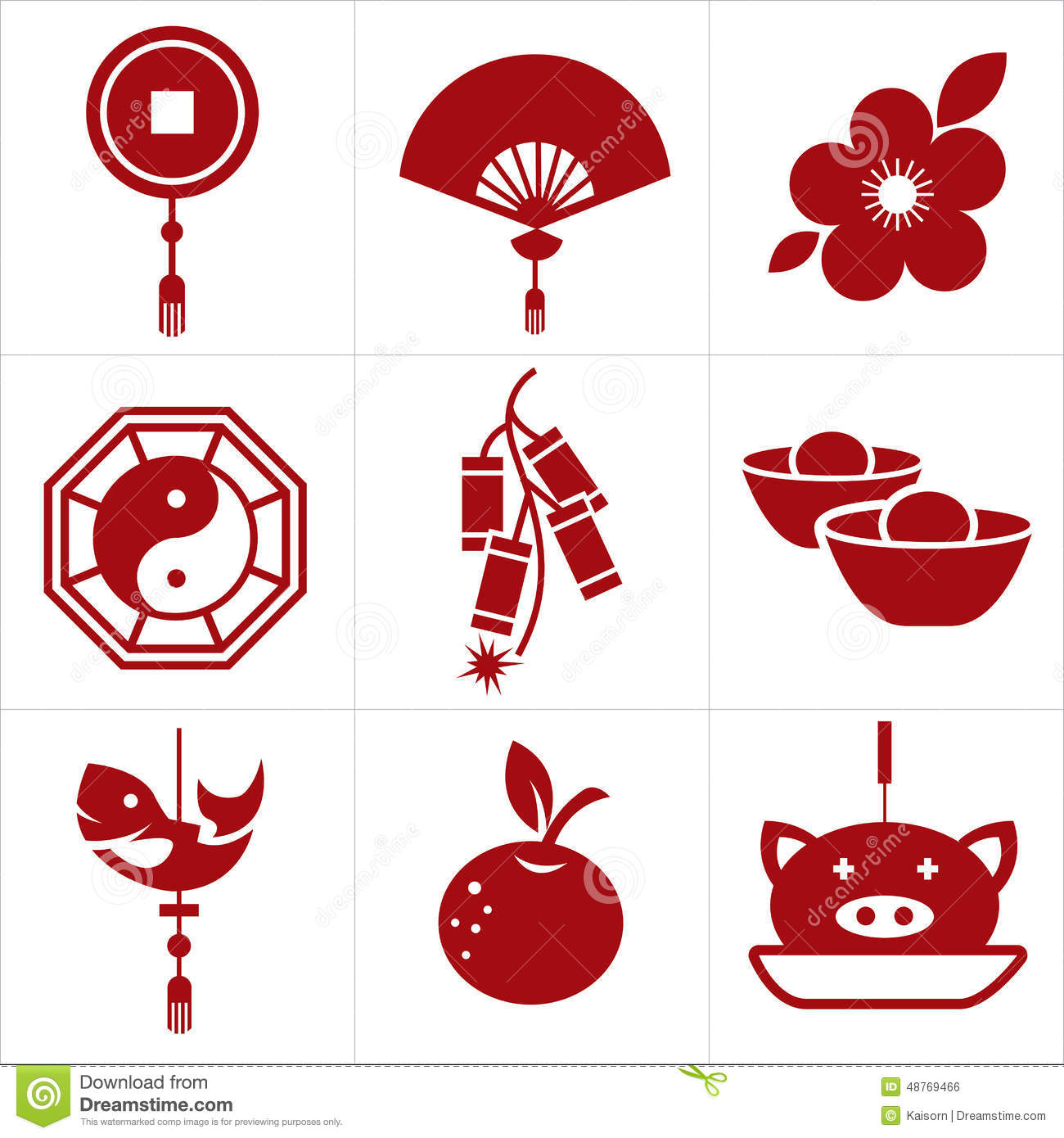 Chinese Calendar Illustration : Chinese new year icon stock vector illustration of